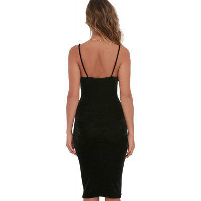 WomenS Sexy Strap Party Midi DressBodycon Dresses<br>WomenS Sexy Strap Party Midi Dress<br><br>Dresses Length: Knee-Length<br>Elasticity: Elastic<br>Fabric Type: Velour<br>Material: Cotton Blend<br>Neckline: V-Neck<br>Package Contents: 1 x Dress<br>Pattern Type: Solid<br>Season: Summer<br>Silhouette: Sheath<br>Sleeve Length: Sleeveless<br>Style: Sexy &amp; Club<br>Waist: Natural<br>Weight: 0.2500kg<br>With Belt: No