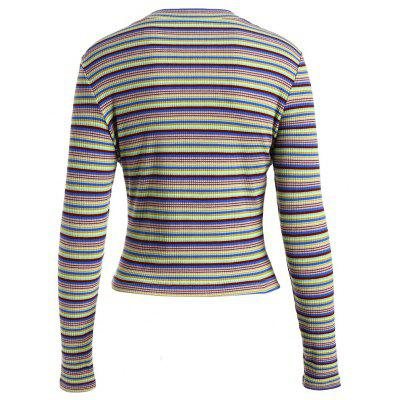 Womens Sweater O Neck Long Sleeve Striped Cropped SweaterSweaters &amp; Cardigans<br>Womens Sweater O Neck Long Sleeve Striped Cropped Sweater<br><br>Collar: Round Neck<br>Elasticity: Elastic<br>Material: Cotton, Polyester, Wool<br>Package Contents: 1 x Sweater<br>Sleeve Length: Full<br>Style: Casual<br>Technics: Flat Knitted<br>Type: Pullovers<br>Weight: 0.3400kg, 0.2700kg
