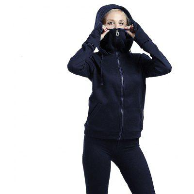 WomenS Autumn Winter Long Sleeve Hooded Gauntlets Hoodies Sports Clothes Tops CoatsSweatshirts &amp; Hoodies<br>WomenS Autumn Winter Long Sleeve Hooded Gauntlets Hoodies Sports Clothes Tops Coats<br><br>Closure Type: Zipper<br>Collar: Turtleneck<br>Detachable Part: Lower Edge Detachable<br>Elasticity: Elastic<br>Fabric Type: Broadcloth<br>Hooded: Yes<br>Material: Polyester<br>Package Contents: 1 x Hoodie<br>Pattern Style: Solid<br>Shirt Length: Regular, Regular<br>Sleeve Length: Full, Full<br>Sleeve Style: Regular<br>Style: Active<br>Thickness: Fleece,Standard<br>Weight: 0.5700kg, 0.6200kg