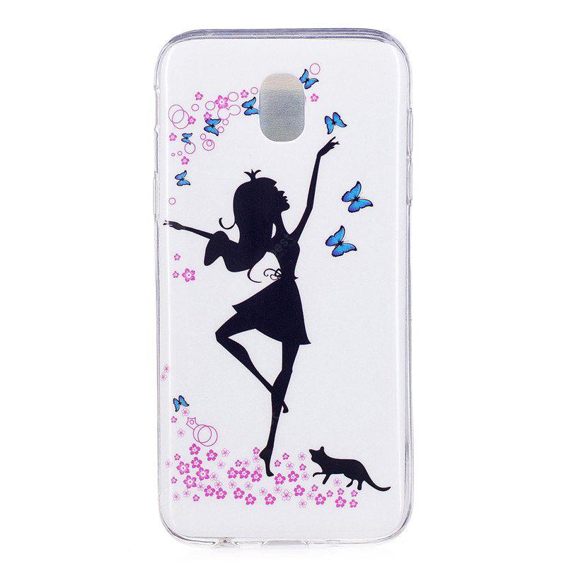 TPU Materiale Dancing Girl Pattern Alta Penetration Custodia Luminosa per Samsung Galaxy J3 (2017) J330 EU