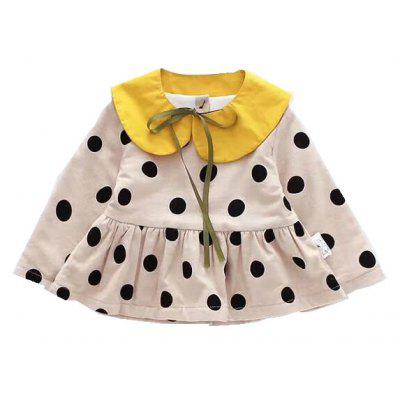 2017 Autumn and Winter New Baby Dot Lapel Collar Open Buckle Plus Cashmere Skirt