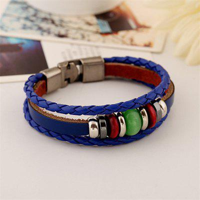 Mens Bracelet PU Multilayer Stylish Charm AccessoryMens Jewelry<br>Mens Bracelet PU Multilayer Stylish Charm Accessory<br><br>Package Contents: 1 x Bracelet<br>Package size (L x W x H): 13.00 x 8.00 x 9.00 cm / 5.12 x 3.15 x 3.54 inches<br>Package weight: 0.0100 kg