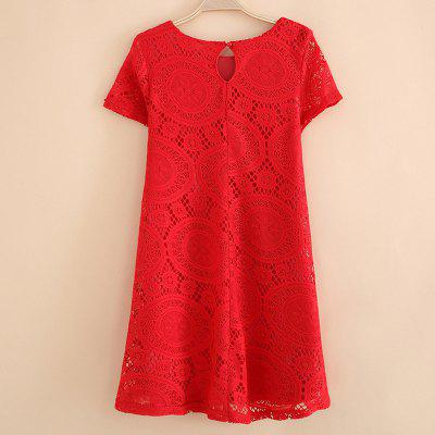 Womens Wear Casual Short Sleeved Lace Dished DressesWomens Dresses<br>Womens Wear Casual Short Sleeved Lace Dished Dresses<br><br>Dresses Length: Mini<br>Elasticity: Micro-elastic<br>Fabric Type: Lace<br>Material: Lace, Spandex<br>Neckline: Round Collar<br>Package Contents: 1xDress<br>Pattern Type: Floral<br>Season: Fall, Spring, Summer, Winter<br>Silhouette: A-Line<br>Sleeve Length: Short Sleeves<br>Style: Lolita<br>Weight: 0.2200kg<br>With Belt: No