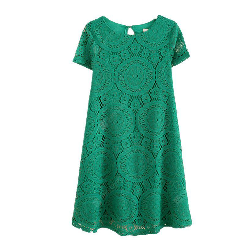 Women's Wear Casual Short Sleeved Lace Dished Dresses