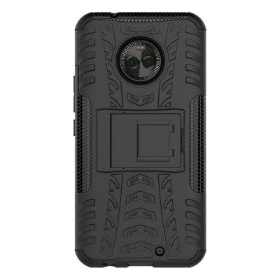Buy BLACK Heavy-duty Hard Back Case Cover with Kickstand for Moto X4 for $4.27 in GearBest store