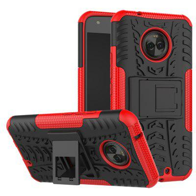 Buy RED Heavy-duty Hard Back Case Cover with Kickstand for Moto X4 for $4.27 in GearBest store