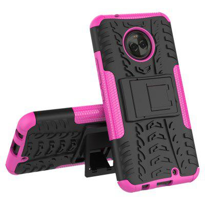 Buy PINK Heavy-duty Hard Back Case Cover with Kickstand for Moto X4 for $4.27 in GearBest store