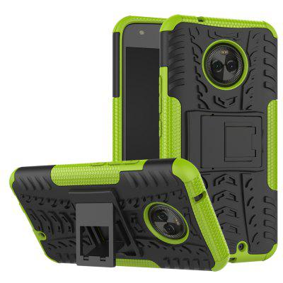 Buy GREEN Heavy-duty Hard Back Case Cover with Kickstand for Moto X4 for $4.27 in GearBest store