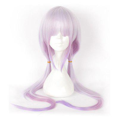 Anime Pink Color Long Straight Synthetic Hair Cosplay Wig
