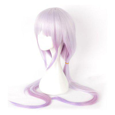 Anime Pink Color Long Straight Synthetic Hair Cosplay Wig цены онлайн
