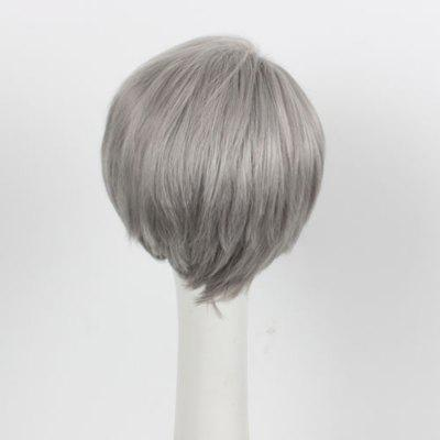 Short Synthetic Hair Gray Color Amine Cosplay Wigs For Men synthetic hair wigs new available