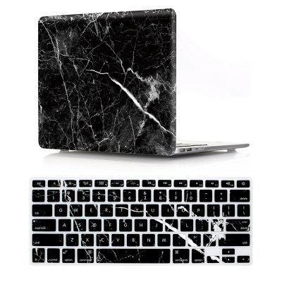 Buy BLACK Computer Shell Laptop Case Keyboard Film Set for MacBook Pro 15.4 inch 2016 -3D Marble Black for $16.93 in GearBest store