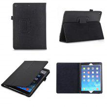 For iPad 2017 9.7 Inch New Model A1822 Flip Stand Leather Cases Lychee Pattern