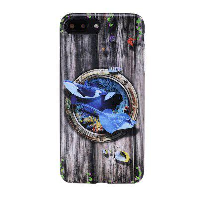 Dla iPhone 8 Plus / 7 Plus Case Shark Pattern 6 Back Cover Cartoon Miękka TPU Mobile Phone Back Shell