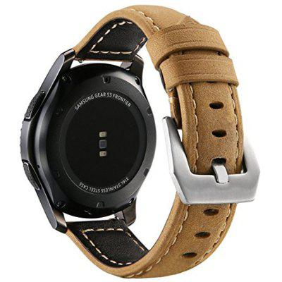 Frontier Classic Watch Band 22mm Genuine Leather Strap Soft Replacement Wristband Bracelet with Stainless Steel Buckle Clasp for Samsung Gear S3 genuine leather watch band 22mm for samsung gear s3 classic frontier stainless steel butterfly clasp strap wrist belt bracelet