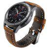 Frontier Classic Watch Band 22mm Genuine Leather Strap Soft Replacement Wristband Bracelet with Stainless Steel Buckle Clasp for Samsung Gear S3 - COFFEE