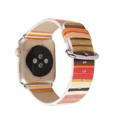 For iWatch Band 38mm Series 3 2 1 Replacement Genuine Leather Strap With Silver Metal Clasp Colorful StripesSmart Watch Accessories<br>For iWatch Band 38mm Series 3 2 1 Replacement Genuine Leather Strap With Silver Metal Clasp Colorful Stripes<br><br>Material: Genuine Leather<br>Package Contents: 1 x Watch Band With Adapter<br>Package size: 15.00 x 6.00 x 1.00 cm / 5.91 x 2.36 x 0.39 inches<br>Package weight: 0.0160 kg<br>Product size: 12.00 x 3.00 x 1.00 cm / 4.72 x 1.18 x 0.39 inches<br>Product weight: 0.0150 kg