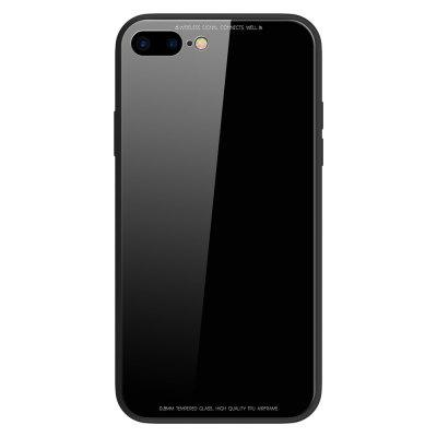 Toughened Glass Backboard The Silicone Soft Shell Metal Frame Following From  for iPhone 8 Plus / 7 Plus CaseiPhone Cases/Covers<br>Toughened Glass Backboard The Silicone Soft Shell Metal Frame Following From  for iPhone 8 Plus / 7 Plus Case<br><br>Compatible for Apple: iPhone 7 Plus, iPhone 8 Plus<br>Features: Back Cover, Button Protector, Anti-knock<br>Material: Silicagel, Aviation Aluminum, Tempered Glass<br>Package Contents: 1 x Phone Case<br>Package size (L x W x H): 20.00 x 10.00 x 2.00 cm / 7.87 x 3.94 x 0.79 inches<br>Package weight: 0.0550 kg<br>Product weight: 0.0500 kg<br>Style: Metallic, Solid Color, Transparent