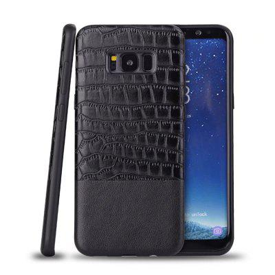 Luxury Hard Splicing Crocodile Leather Back Cover Cell Phone for  Samsung Galaxy S8 Case
