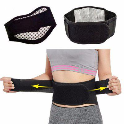 Tourmaline Self-heating Magnetic Therapy Waist Belt Lumbar Support Back Waist Support Brace Double Banded aja lumbar