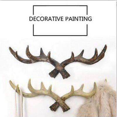 Retro Country Style Resin Antlers Wall Hanging Wall Decoration Creative Clothes Hat Support for Home