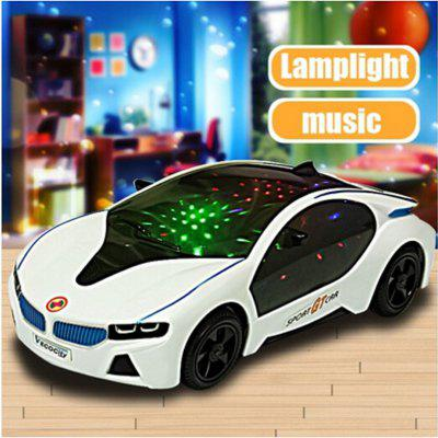 3D LED Flashing Light Car Toys Music Sound Electric Toy