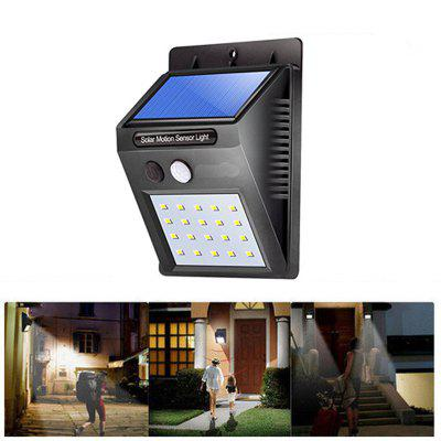 Great Gift Solar Powered Waterproof 20 LED Motion Sensor Wall Light for Patio Garden