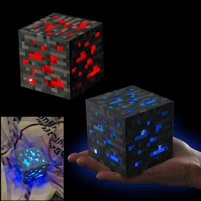 Creative Quartet Lights LED Redstone Ore Square Night Lights Home Decor Gift Light
