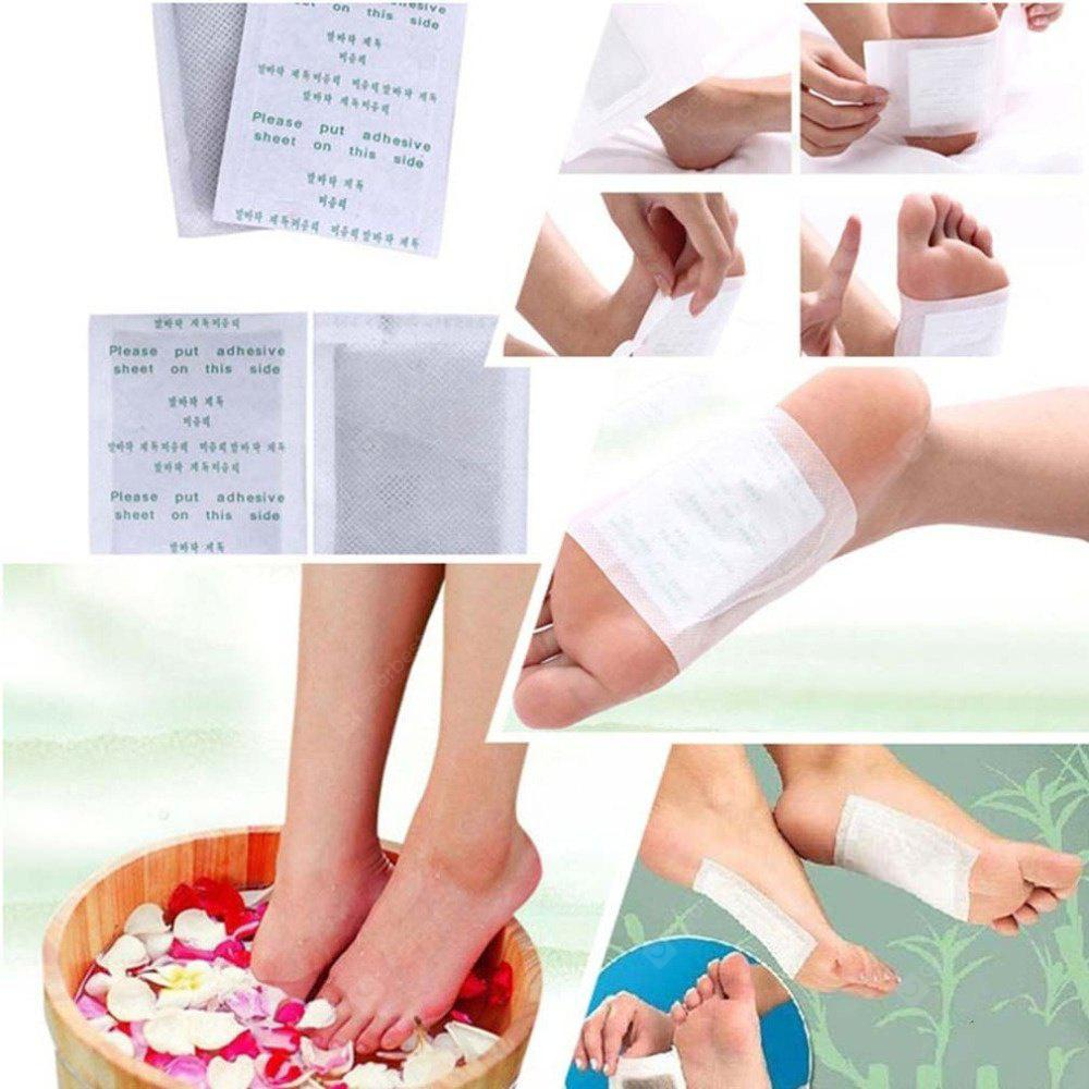 10 PCS Detox Organico Herbal Cleansing Patches Foot Pads