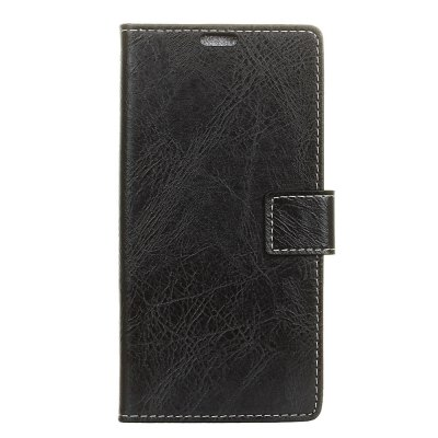 Genuine Quality Vintage Style Crazy Horse Pattern Flip PU Leather Wallet Case for MOTO Z2 Play