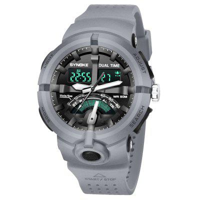 SYNOKE 9478 Sports Outdoor Waterproof Electronic Watch Multi-functional Men Electronic WatchMens Watches<br>SYNOKE 9478 Sports Outdoor Waterproof Electronic Watch Multi-functional Men Electronic Watch<br><br>Available Color: Army green,Black,Blue,Gray,Green<br>Band material: PU<br>Band size: 27 x 2.2cm<br>Brand: Synoke<br>Case material: ABS<br>Clasp type: Pin buckle<br>Dial size: 5.061 x 5.061 x 1.704cm<br>Display type: Analog-Digital<br>Movement type: Digital watch<br>Package Contents: 1 x Watch<br>Package size (L x W x H): 12.50 x 8.00 x 9.00 cm / 4.92 x 3.15 x 3.54 inches<br>Package weight: 0.0682 kg<br>Product size (L x W x H): 27.00 x 2.20 x 1.70 cm / 10.63 x 0.87 x 0.67 inches<br>Product weight: 0.0645 kg<br>Shape of the dial: Round<br>Special features: Alarm Clock, Stopwatch, Luminous, Date<br>Watch mirror: Acrylic<br>Watch style: Outdoor Sports<br>Watches categories: Men