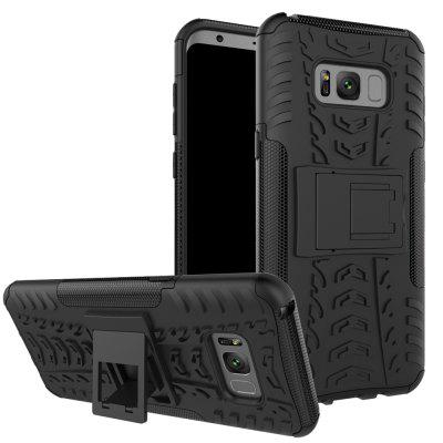 Shock Absorbing Hard Cover Ultra Protective Heavy Duty Case with Holster Belt Clip Built-in Kickstand for Samsung Galaxy S8  Plus
