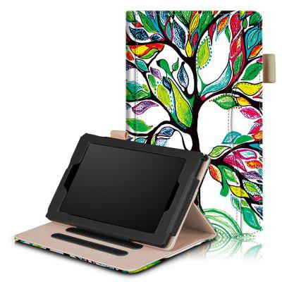 Folio Case for Kindle Fire 7 inch 2017/ 2015 Tablet with Stand and Auto Sleep/ Wake Function