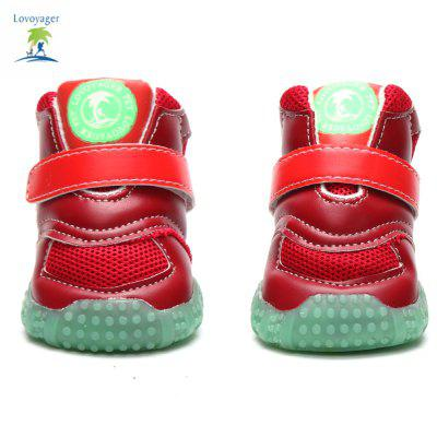 Lovoyager VB1024 Autumn and Winter Warm Antiskid Luminous Dog ShoesDog Clothing &amp; Shoes<br>Lovoyager VB1024 Autumn and Winter Warm Antiskid Luminous Dog Shoes<br><br>Brand: Lovoyager<br>For: Dogs<br>Functions: Waterproof<br>Material: Cotton, PU<br>Package Contents: 4 x Dog Shoe<br>Package size (L x W x H): 18.00 x 16.00 x 11.00 cm / 7.09 x 6.3 x 4.33 inches<br>Package weight: 0.2000 kg<br>Product weight: 0.1800 kg<br>Season: Autumn, Winter<br>Size: L,M,S,XL<br>Type: Shoes
