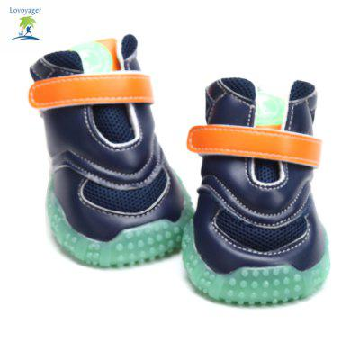 Lovoyager VB1024 Autumn and Winter Warm Antiskid Luminous Dog ShoesDog Clothing &amp; Shoes<br>Lovoyager VB1024 Autumn and Winter Warm Antiskid Luminous Dog Shoes<br><br>Brand: Lovoyager<br>For: Dogs<br>Functions: Waterproof<br>Material: Cotton, PU<br>Package Contents: 4 x Dog Shoe<br>Package size (L x W x H): 18.00 x 16.00 x 11.00 cm / 7.09 x 6.3 x 4.33 inches<br>Package weight: 0.2600 kg<br>Product size (L x W x H): 8.50 x 7.80 x 11.00 cm / 3.35 x 3.07 x 4.33 inches<br>Product weight: 0.2400 kg<br>Season: Winter, Autumn<br>Size: L,M,S,XL<br>Type: Shoes