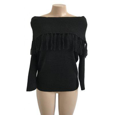 Autumn Winter Sexy Long-sleeved Shoulder Tassel SweaterSweaters &amp; Cardigans<br>Autumn Winter Sexy Long-sleeved Shoulder Tassel Sweater<br><br>Collar: Off The Shoulder<br>Elasticity: Micro-elastic<br>Material: Polyester<br>Package Contents: 1 x Women Top<br>Sleeve Length: Full<br>Style: Casual<br>Type: Pullovers<br>Weight: 0.3300kg