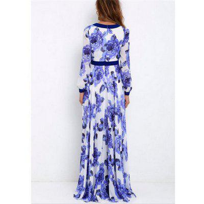 Womens Autumn Maxi Dresses Ladies Long Sleeve V-neck Floral Print Loose Chiffon Big Swing DressWomens Dresses<br>Womens Autumn Maxi Dresses Ladies Long Sleeve V-neck Floral Print Loose Chiffon Big Swing Dress<br><br>Dresses Length: Floor-Length<br>Elasticity: Nonelastic<br>Fabric Type: Broadcloth<br>Material: Polyester<br>Neckline: Plunging Neck<br>Package Contents: 1 x Dress<br>Pattern Type: Floral<br>Season: Spring, Summer, Fall<br>Silhouette: Beach<br>Sleeve Length: Long Sleeves<br>Sleeve Type: Lantern Sleeve<br>Style: Fashion<br>Waist: Empire<br>Weight: 0.3000kg<br>With Belt: No