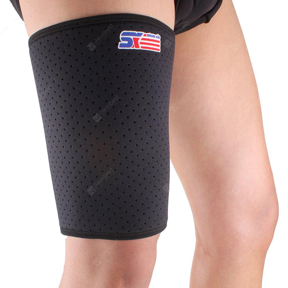 Shou Xin SX650 Sports Badminton Elastic Stretchy Thigh Brace Support Wrap Band - Black