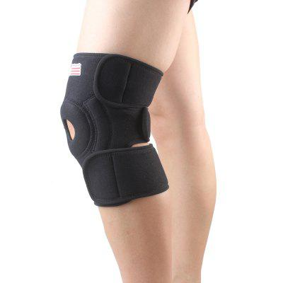 Shou Xin SX523 Classic Magnetic Adjustable 2 - Spring Sport Knee Guard Protector - Black