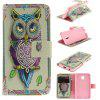 Owl Design PU+TPU Leather Case with Stand and Card Slots Magnetic Closure for Samsung Galaxy J7 2017 J730 EU Version - COLORMIX