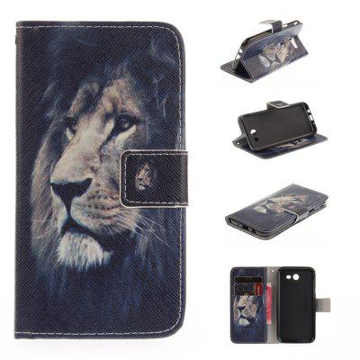 The Lion Pattern PU+TPU Leather Case Design with Stand and Card Slots Magnetic Closure for Samsung Galaxy J3 2017 J320 The American Version