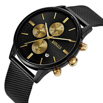 BAOGELA 1611 Chronograph Men Watch with Multi-function Stainless Steel Mesh Band badace new top luxury watch men gold men s watches ultra thin stainless steel mesh band quartz wristwatch business casual watch