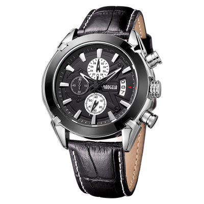 Baogela 1602 Men Multifunctional Fashionable Causal Leather Strap Sports Quartz Wrist WatchMens Watches<br>Baogela 1602 Men Multifunctional Fashionable Causal Leather Strap Sports Quartz Wrist Watch<br><br>Band material: Leather<br>Band size: 26 x 2.4cm<br>Brand: BAOGELA<br>Case material: Alloy<br>Clasp type: Pin buckle<br>Dial size: 4.5 x 4.5 x 1.5cm<br>Display type: Analog<br>Movement type: Quartz watch<br>Package Contents: 1 x Watch, 1 x Box, 1 x Manual<br>Package size (L x W x H): 16.30 x 8.00 x 3.20 cm / 6.42 x 3.15 x 1.26 inches<br>Package weight: 0.1812 kg<br>Product size (L x W x H): 26.00 x 4.50 x 1.50 cm / 10.24 x 1.77 x 0.59 inches<br>Product weight: 0.0916 kg<br>Shape of the dial: Round<br>Special features: Decorative sub-dial, Day, Stopwatch<br>Watch mirror: Mineral glass<br>Watch style: Business, Retro, Outdoor Sports, Trends in outdoor sports, Casual<br>Watches categories: Men