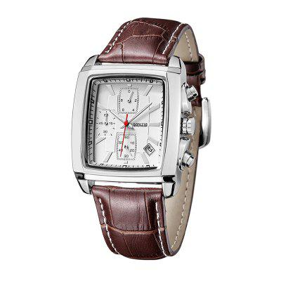 Baogela 1613 Men Chronograph Watch Luminous Waterproof Quartz Wrist Watch Leather Strap Rectangle DialMens Watches<br>Baogela 1613 Men Chronograph Watch Luminous Waterproof Quartz Wrist Watch Leather Strap Rectangle Dial<br><br>Band material: Leather<br>Band size: 26 x 2.4cm<br>Brand: BAOGELA<br>Case material: Alloy<br>Clasp type: Pin buckle<br>Dial size: 26 x 3.7 x 1.2cm<br>Display type: Analog<br>Movement type: Quartz watch<br>Package Contents: 1 x Watch, 1 x Watch Box<br>Package size (L x W x H): 16.30 x 8.00 x 3.20 cm / 6.42 x 3.15 x 1.26 inches<br>Package weight: 0.1565 kg<br>Product size (L x W x H): 26.00 x 3.70 x 1.20 cm / 10.24 x 1.46 x 0.47 inches<br>Product weight: 0.0669 kg<br>Shape of the dial: Rectangle<br>Special features: Decorative sub-dial, Day<br>Watch mirror: Mineral glass<br>Watch style: Casual, Fashion, Outdoor Sports, Retro, Trends in outdoor sports, Business<br>Watches categories: Men