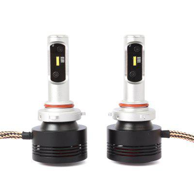 DICN  Product A7 Pair of 9005 Car LED Headlight  Light Source and Black