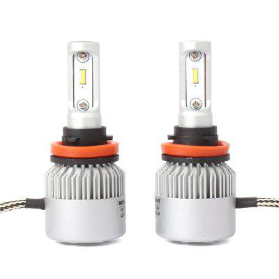 DICN  New Product Pair of H11 Car LED Headlight -Black