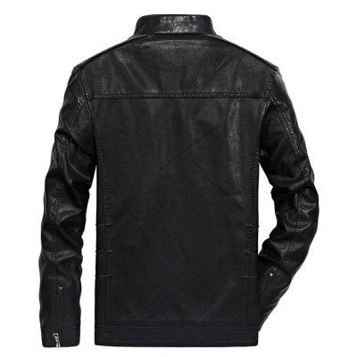 Men Autumn Fashion Leather JacketMens Jackets &amp; Coats<br>Men Autumn Fashion Leather Jacket<br><br>Clothes Type: Jackets<br>Collar: Turn-down Collar<br>Material: Faux Leather<br>Package Contents: 1?Jacket<br>Season: Fall<br>Shirt Length: Regular<br>Sleeve Length: Long Sleeves<br>Style: Casual<br>Weight: 1.0000kg