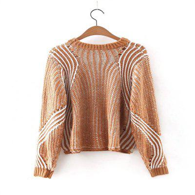 New Lady Loose Type Stripe Pattern Knitted SweaterSweaters &amp; Cardigans<br>New Lady Loose Type Stripe Pattern Knitted Sweater<br><br>Collar: Round Neck<br>Elasticity: Elastic<br>Material: Cotton, Cashmere, Wool, Acrylic<br>Package Contents: 1 x Sweater<br>Sleeve Length: Full<br>Style: Fashion<br>Type: Pullovers<br>Weight: 0.2000kg
