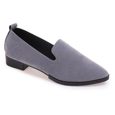 XS-1683-3 Sharp Pointed Low Heel Set Foot Women's Shoes