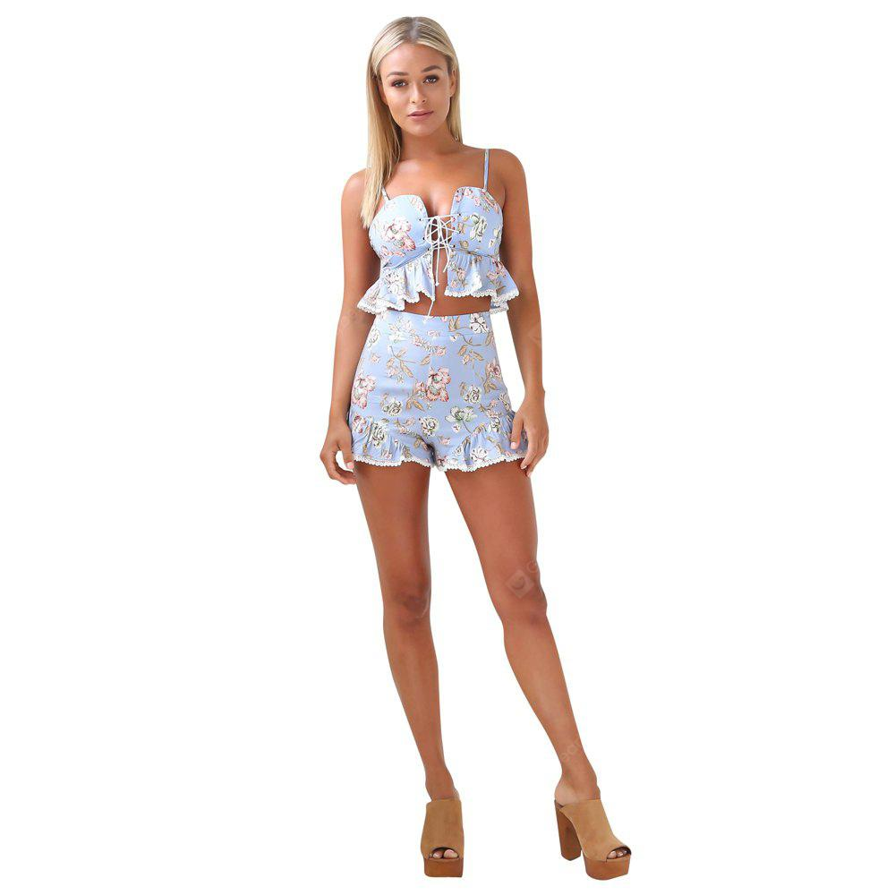 Fashion zweiteilige Spitze strapless Versuchungen Shorts Beach Resort Suit